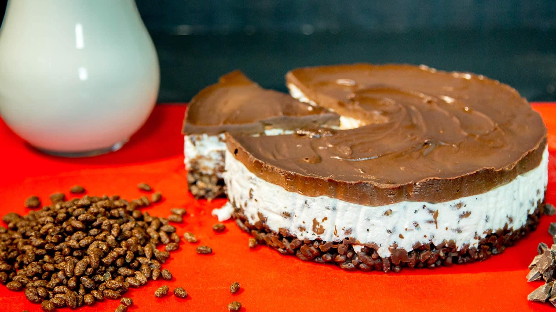 Foto Torta Fredda Al Cioccolato e Riso Soffiato
