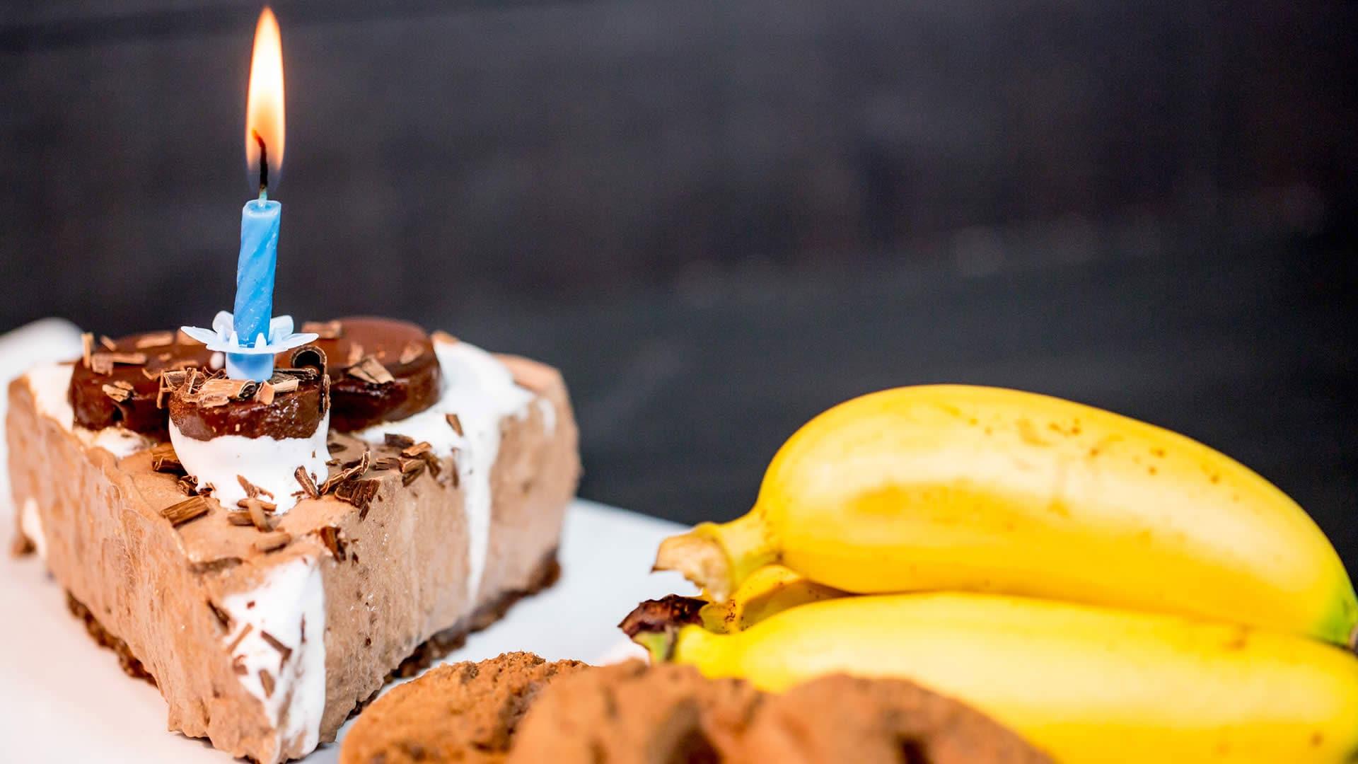 Foto Torta Fredda Banane e Cioccolato - Cheesecake