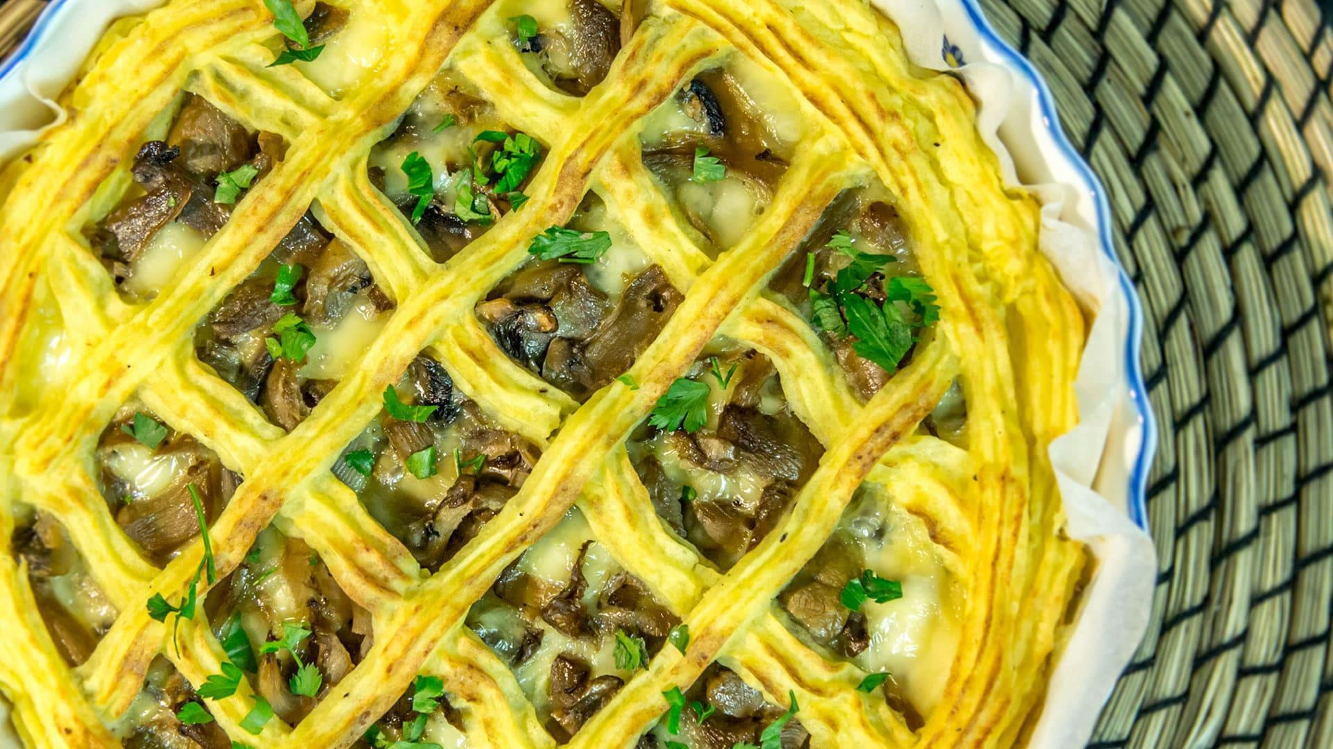 Crostata Di Patate E Funghi Senza Glutine
