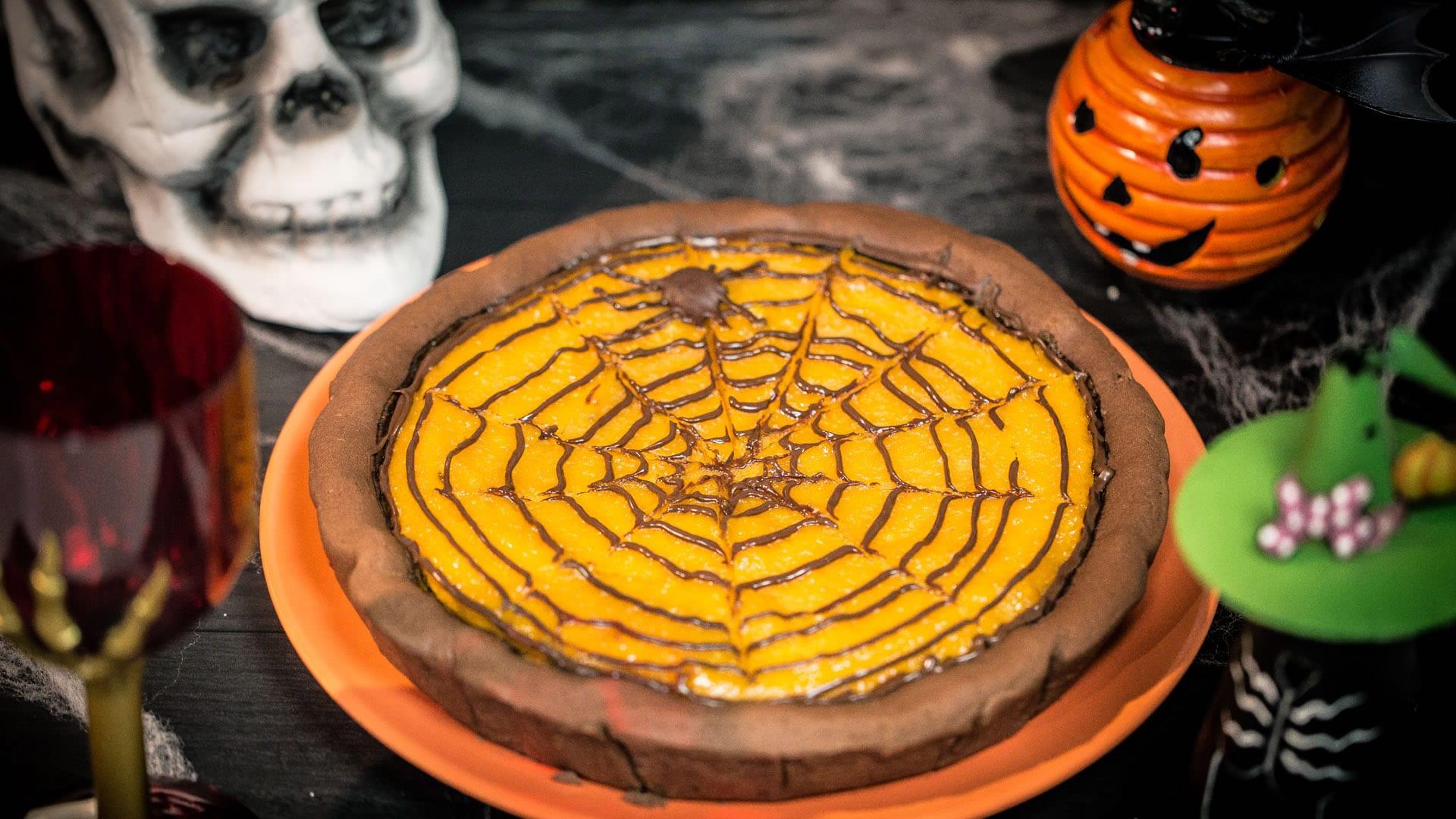 Crostata zucca e cioccolato di halloween for Immagini zucca di halloween