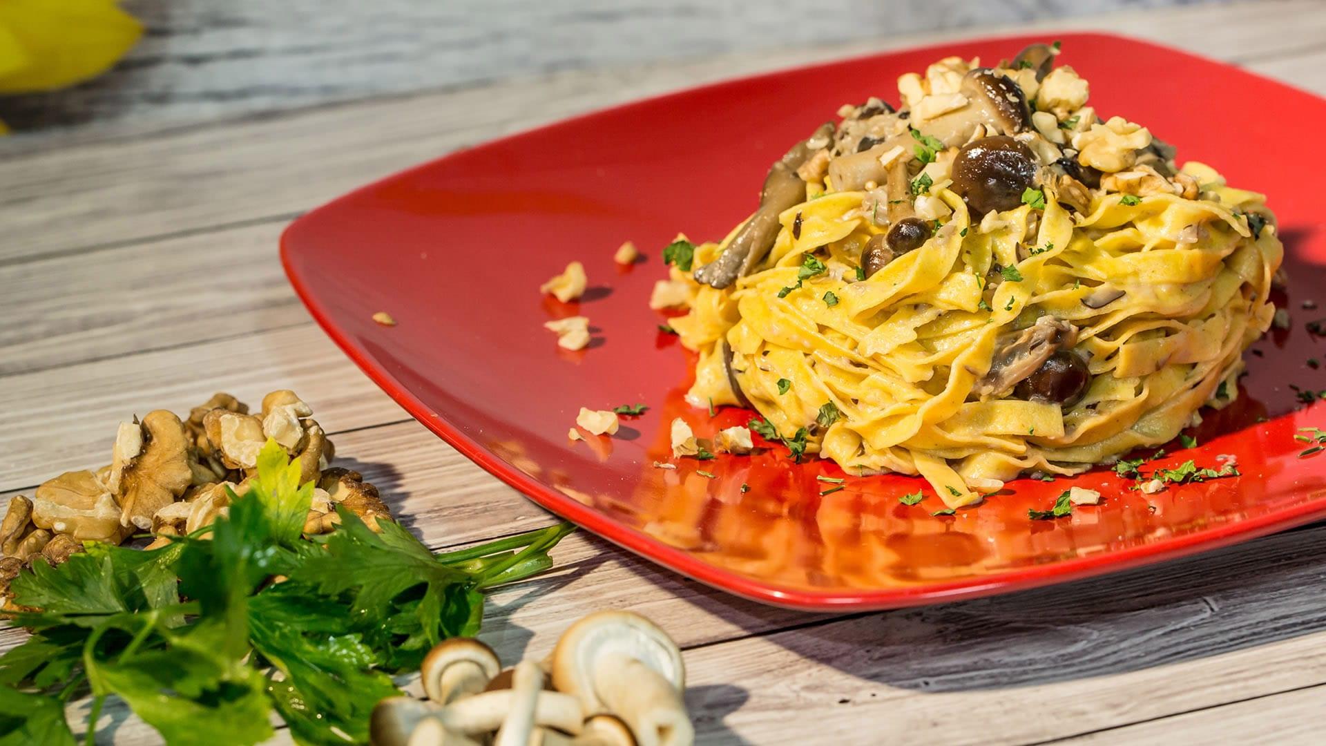 Foto Pasta di Farro con Taleggio e Funghi