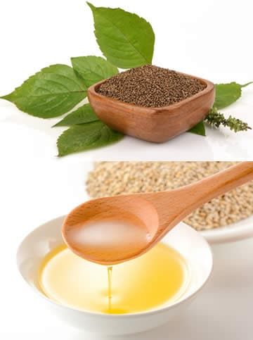 Semi e olio di perilla
