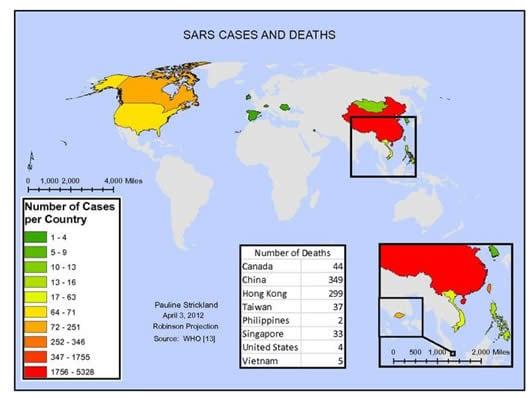 Sars - Casi nel Mondo
